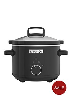 crock-pot-24-litre-2-person-slow-cooker-csc046-black