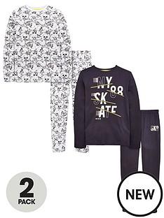 v-by-very-boys-2-pack-skullskate-pyjamas