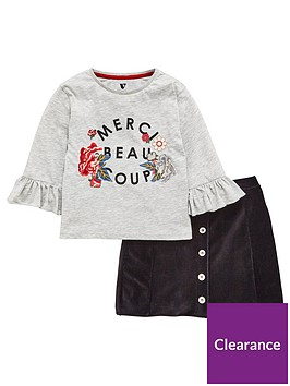 v-by-very-v-by-very-frill-sleeve-floral-embroidered-tee-amp-cord-skirt-set