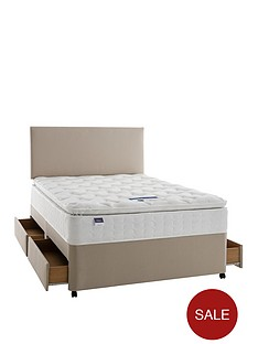 silentnight-miracoilnbsp3-pippa-memory-foam-pillowtopnbspdivan-bed-with-storage-options-and-half-price-headboard-offer-buy-and-save
