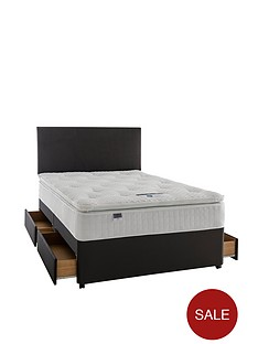 silentnight-mia-1000-geltex-pillowtopnbspdivan-with-storage-options-and-half-price-headboard-offer-buy-and-save