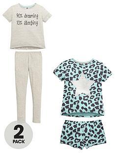 v-by-very-girls-slogan-and-leopard-print-pyjamas-2-pack