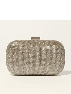karen-millen-glitter-clutch-bag