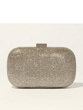 karen-millen-metallic-patchwork-clutch-bag