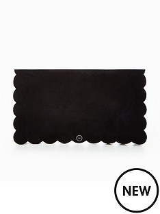 karen-millen-scallop-edge-clutch-bag-black