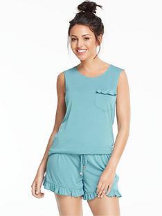 michelle-keegan-modal-frill-short-pyjama-setnbsp