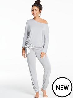 michelle-keegan-modal-tie-front-legging-lounge-set