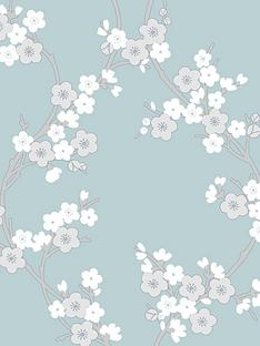 superfresco-cherry-blossom-teal-superfresco-colours-wallpaper
