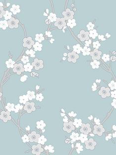 superfresco-cherry-blossom-wallpaper--nbsptealnbsp