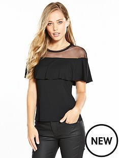 karen-millen-mesh-and-frill-top