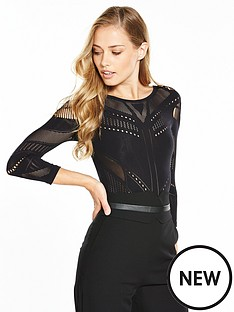 karen-millen-karen-millen-technical-collection-bodysuit