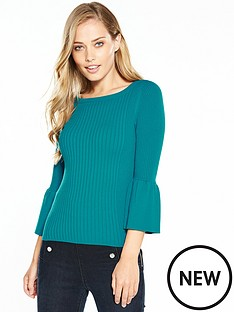 karen-millen-fluted-sleeve-knit-collection