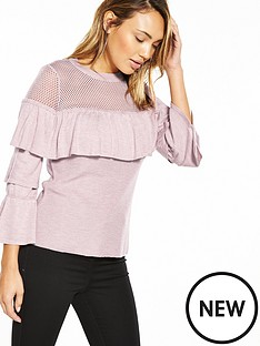 v-by-very-mesh-frill-tired-sleeve-jumper