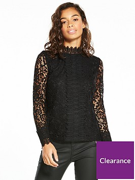 v-by-very-petite-high-neck-lace-top-black