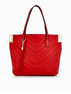 miss-selfridge-red-quilt-tote
