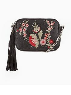 miss-selfridge-black-embroidered-cross-body-bag