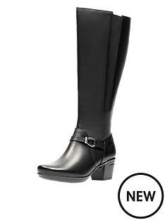 clarks-emslie-sinai-low-heel-knee-boot