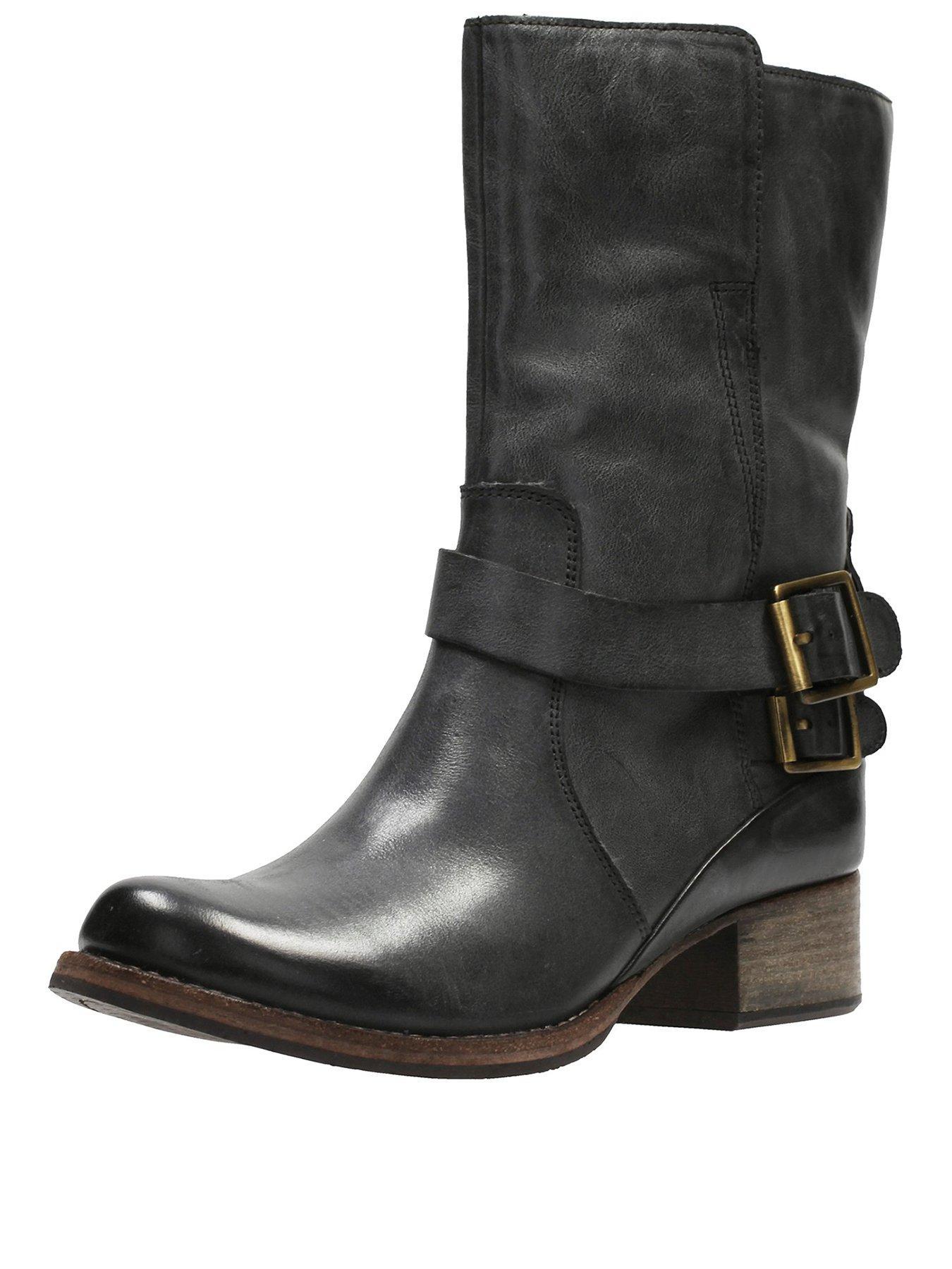 Clarks Clarks Monica Soul Low Heel Calf Height Biker Boot 1600197238 Women's Shoes Clarks Boots