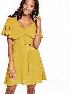 river-island-ochre-tea-dress
