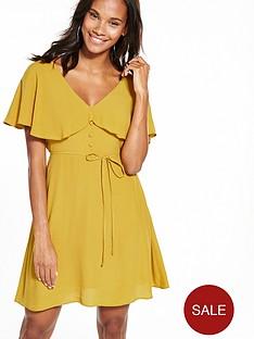 river-island-ochre-tea-dress