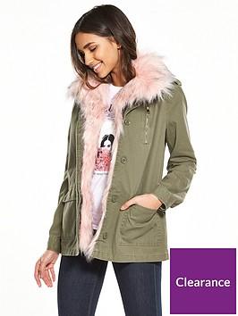 river-island-khaki-faux-fur-army-jacket