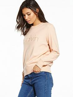 calvin-klein-jeans-hondi-calvin-hwk-long-sleeve-sweat-top-creamtan