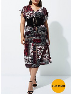 river-island-ri-plus-ruched-sleeved-midi-dress