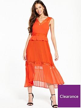 river-island-orange-midi-dress