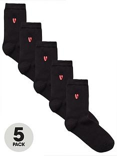 v-by-very-5-pack-embroidered-ankle-sock