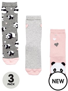 very-v-by-very-3-pack-novelty-panda-sock