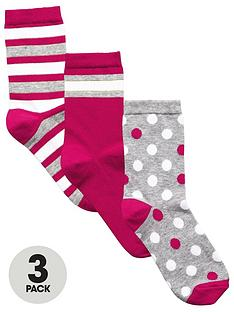 very-v-by-very-3-pack-spots-and-stripes-fashion-sock