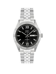 rotary-les-originales-black-dial-silver-bracelet-mens-watch