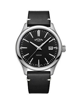 rotary-oxford-black-gloss-dial-black-strap-mens-watch