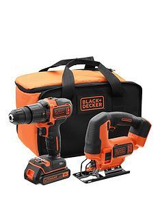 black-decker-black-amp-decker-18v-hammer-drill-18v-jigsaw-battery-amp-charger-and-storage-bag