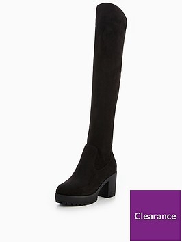 v-by-very-sadie-cleated-sole-stretch-over-the-knee-boot-black