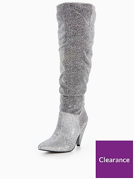 v-by-very-icy-ruchednbspknee-boot-silver-lurex