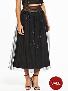 little-mistress-petite-embellished-skirt-black