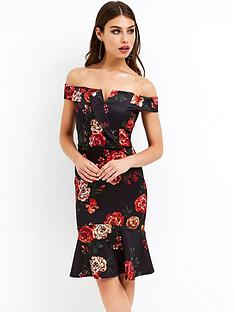 girls-on-film-bardot-floral-midi-dress