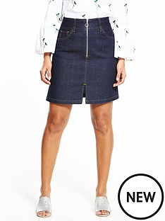 warehouse-zip-through-skirt