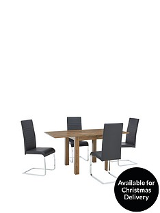 square-to-rectangle-80-160-cm-extending-dining-table-4-jet-chairs