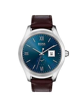 boss-blue-dial-brown-strap-mens-touch-smart-watch