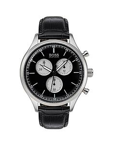 hugo-boss-black-companion-black-dial-black-leather-strap-mensnbspwatch