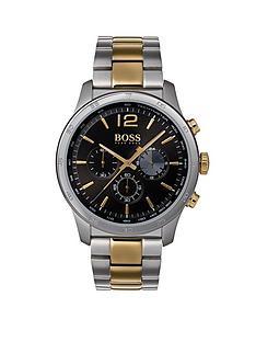 boss-hugo-boss-black-dial-bicolour-stainlesssteel-bracelet-mens-watch