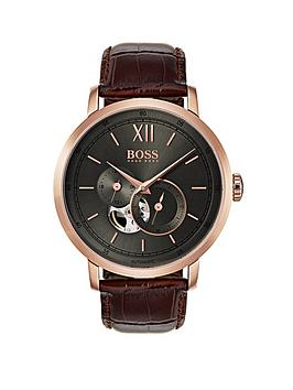 hugo-boss-black-1513506-signature-grey-dial-brown-leather-strap-mensnbspwatch