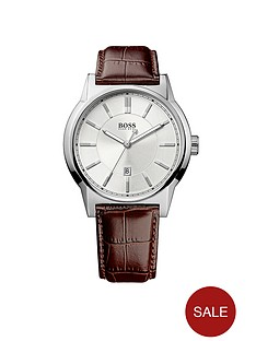 hugo-boss-black-architecture-date-dial-brown-leather-strap-mensnbspwatch