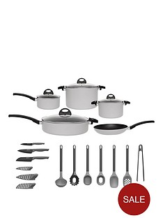 berghoff-eclipse-induction-15-piece-starter-cookware-and-utensil-set-in-soft-grey