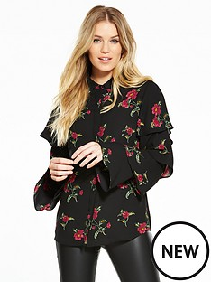 v-by-very-ruffle-long-sleeve-print-blouse