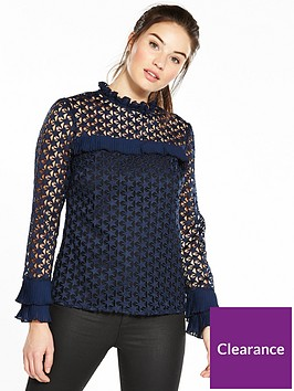 v-by-very-star-lace-top