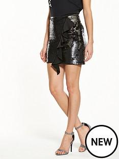 v-by-very-sequin-ruffle-skirt