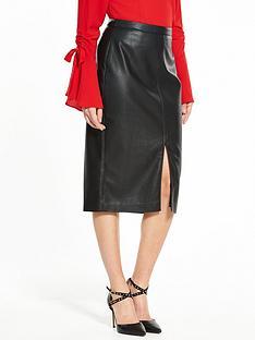 v-by-very-pu-pencil-skirt